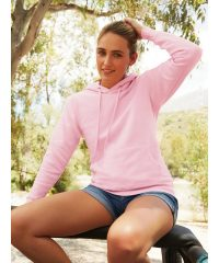 PPG Workwear Fruit Of The Loom Classic Lady-Fit Hooded Sweatshirt 62038 Light Pink Colour