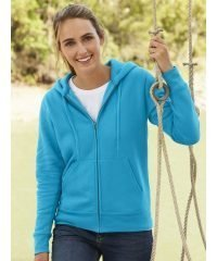 PPG Workwear Fruit Of The Loom Premium Lady-Fit Hooded Sweat Jacket 62118 Azure Colour