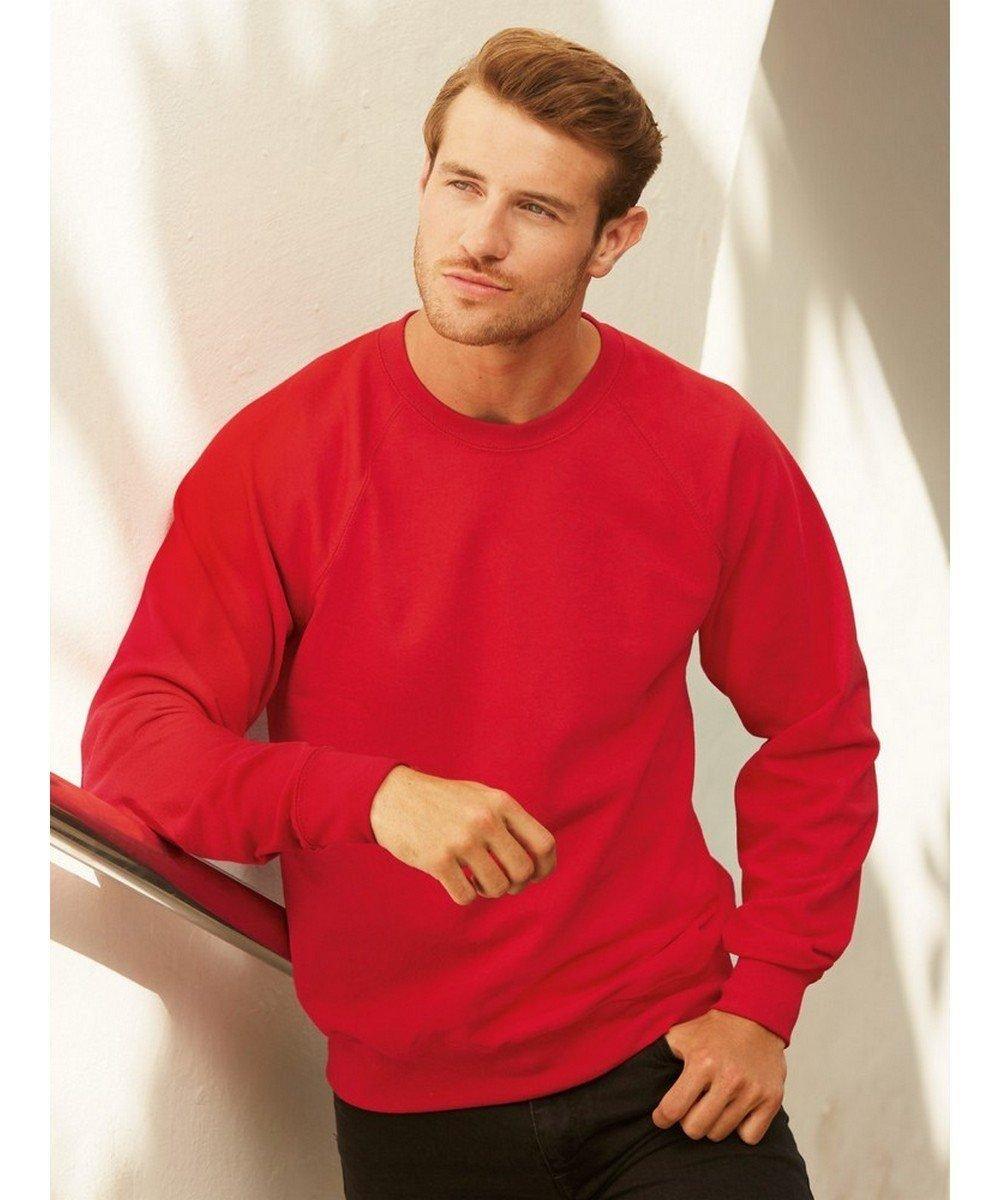 PPG Workwear Fruit Of The Loom Lightweight Raglan Sweatshirt 62138 Red Colour
