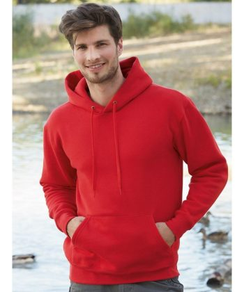 PPG Workwear Fruit Of The Loom Premium Hooded Sweatshirt 62152 Red Colour
