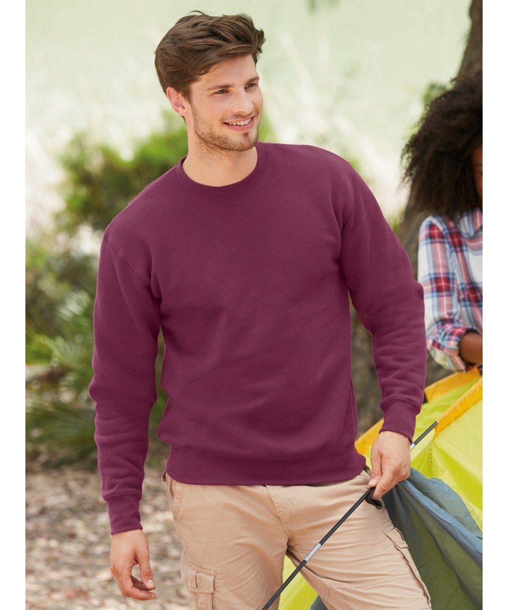 PPG Workwear Fruit Of The Loom Premium Set-In Sweatshirt 62154 Burgundy Colour