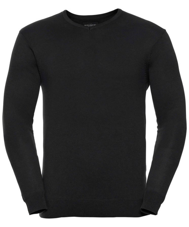 PPG Workwear Russell Collection V-Neck Knitted Pullover 710M Black Colour