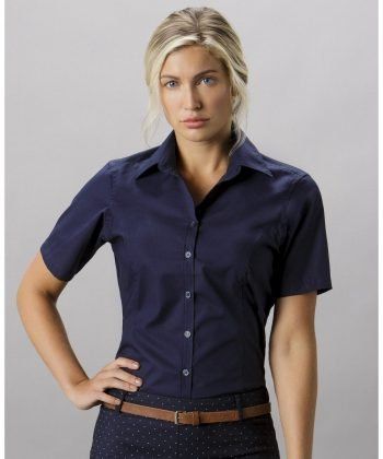 PPG Workwear Kustom Kit Ladies Short Sleeve Business Shirt KK742F Dark Navy Colour
