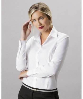 PPG Workwear Kustom Kit Ladies Long Sleeve Business Shirt KK743F White Colour