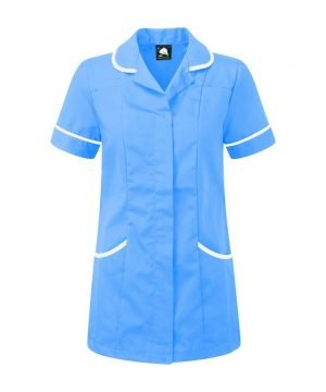 Orn Florence Classic Tunic 8600 Hospital Blue Colour with White Trim