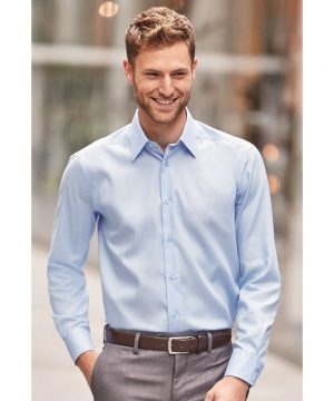 Russell Collection Long Sleeve Tailored Ultimate Non-Iron Shirt 958M Bright Sky Colour