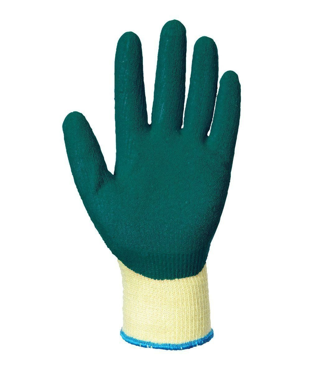 PPG Workwear Portwest Grip Glove A100 Green and Yellow Colour Palm View