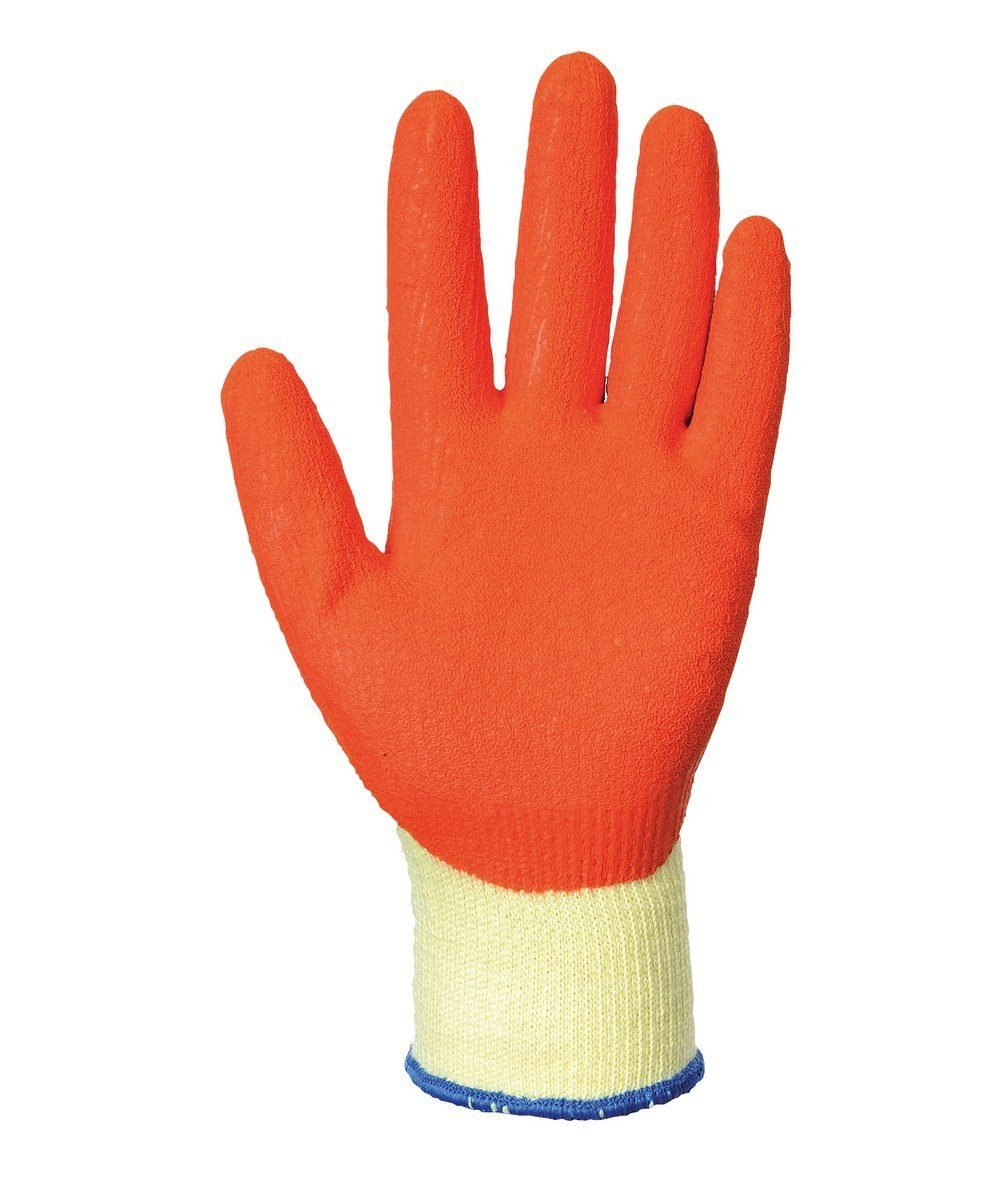 PPG Workwear Portwest Grip Glove A100 Orange and Yellow Colour Palm View