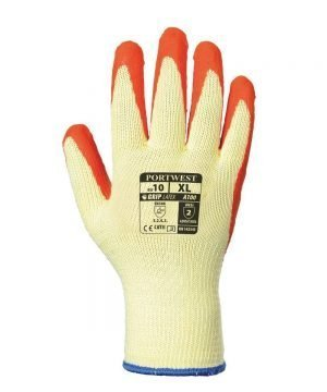 PPG Workwear Portwest Grip Glove A100 Orange and Yellow Colour Back View