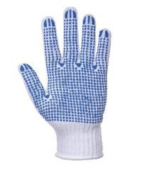 Portwest Fortis Polka Dot Glove A111 Blue and White Colour Palm View