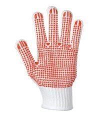 Portwest Heavyweight Polka Dot Glove A112 Red and White Colour Palm View