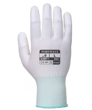 PPG Workwear Portwest PU Fingertip Glove A121 White Colour Back View