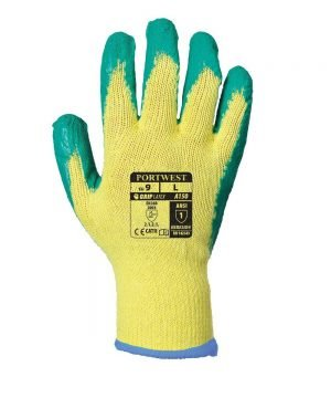 PPG Workwear Portwest Fortis Grip Glove A150 Green and Yellow Colour Back View