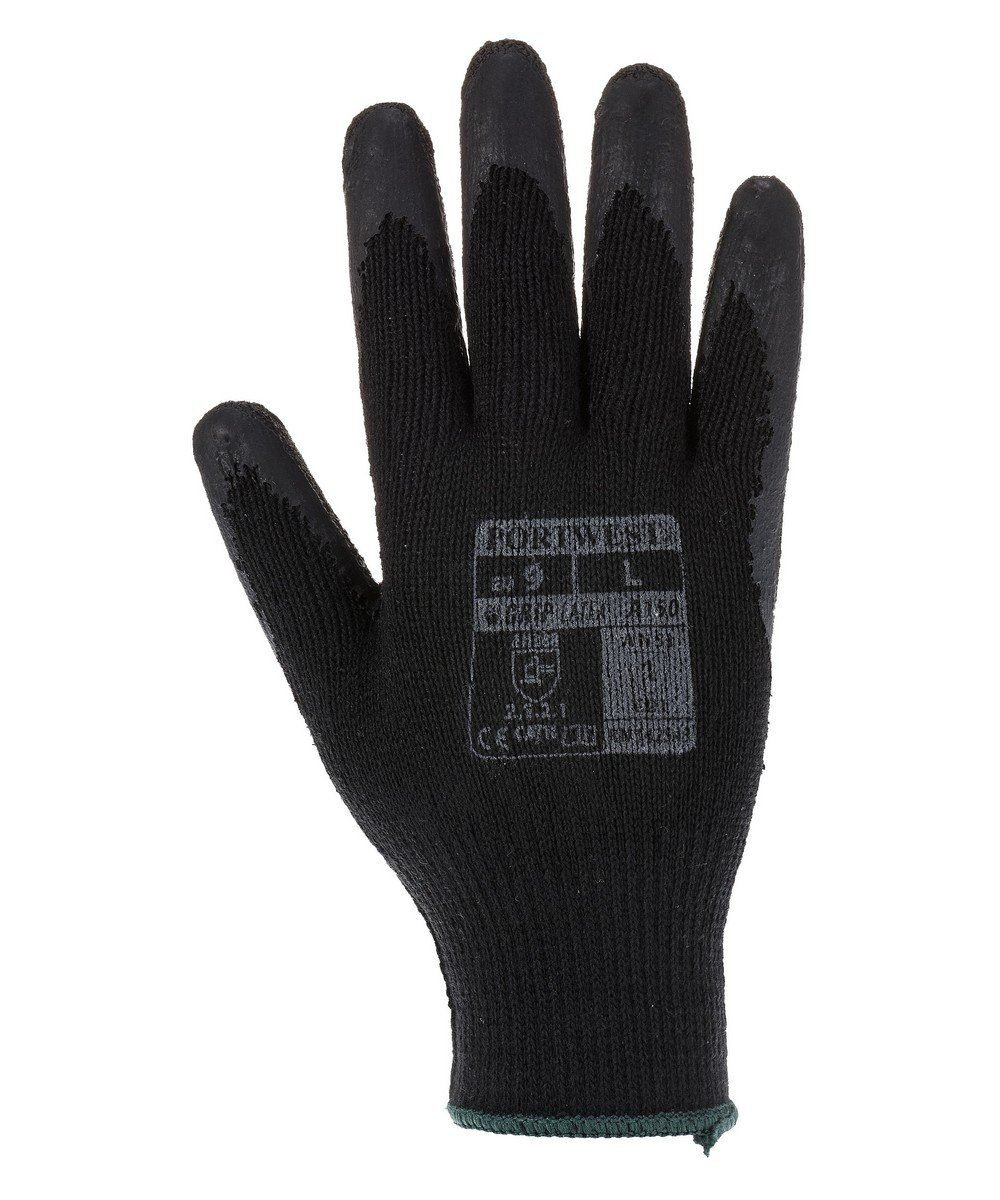 PPG Workwear Portwest Fortis Grip Glove A150 Black Colour Back View