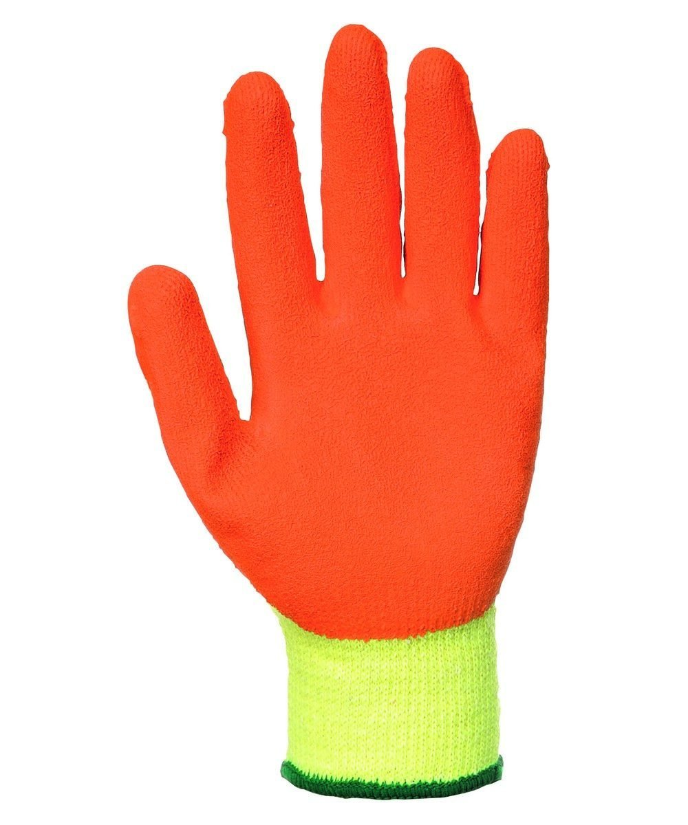 PPG Workwear Portwest Fortis Grip Glove A150 Orange and Yellow Colour Palm View