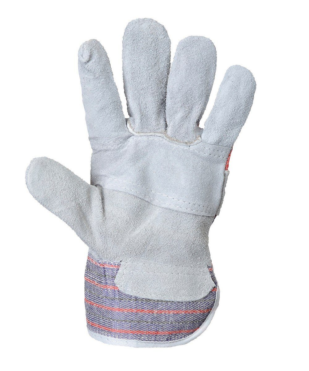 Portwest Canadian Rigger Glove A210 Grey Colour Palm View