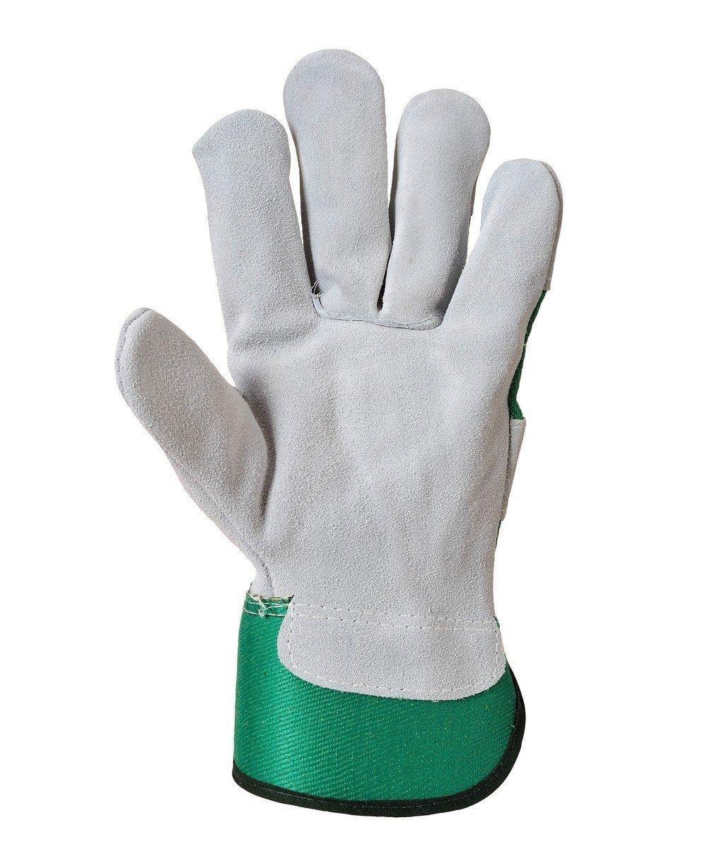 PPG Workwear Portwest Premium Chrome Rigger Glove A220 Green Colour Palm View