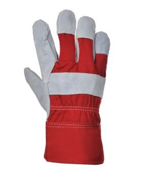 PPG Workwear Portwest Premium Chrome Rigger Glove A220 Red Colour Back View