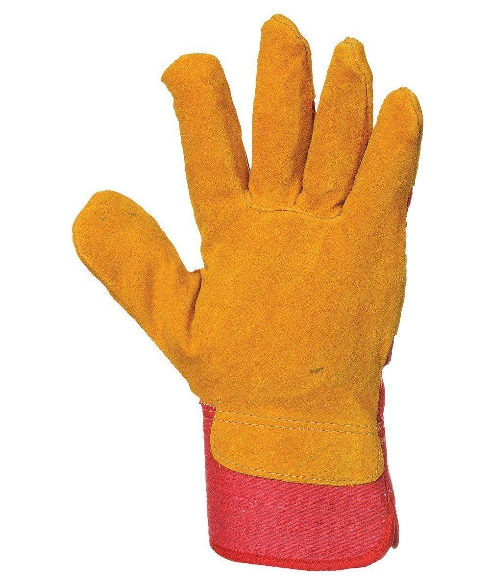 Portwest Vostok Lined Rigger Glove A225 Tan and Red Colour Palm View