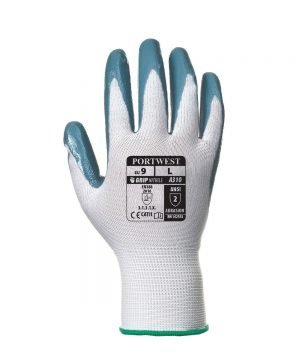 Portwest Flexo Grip Nitrile Glove A310 Grey and White Colour Back View