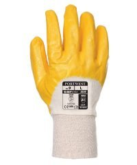 PPG Workwear Portwest Nitrile Light Knitwrist Glove A330 Yellow Colour Back View