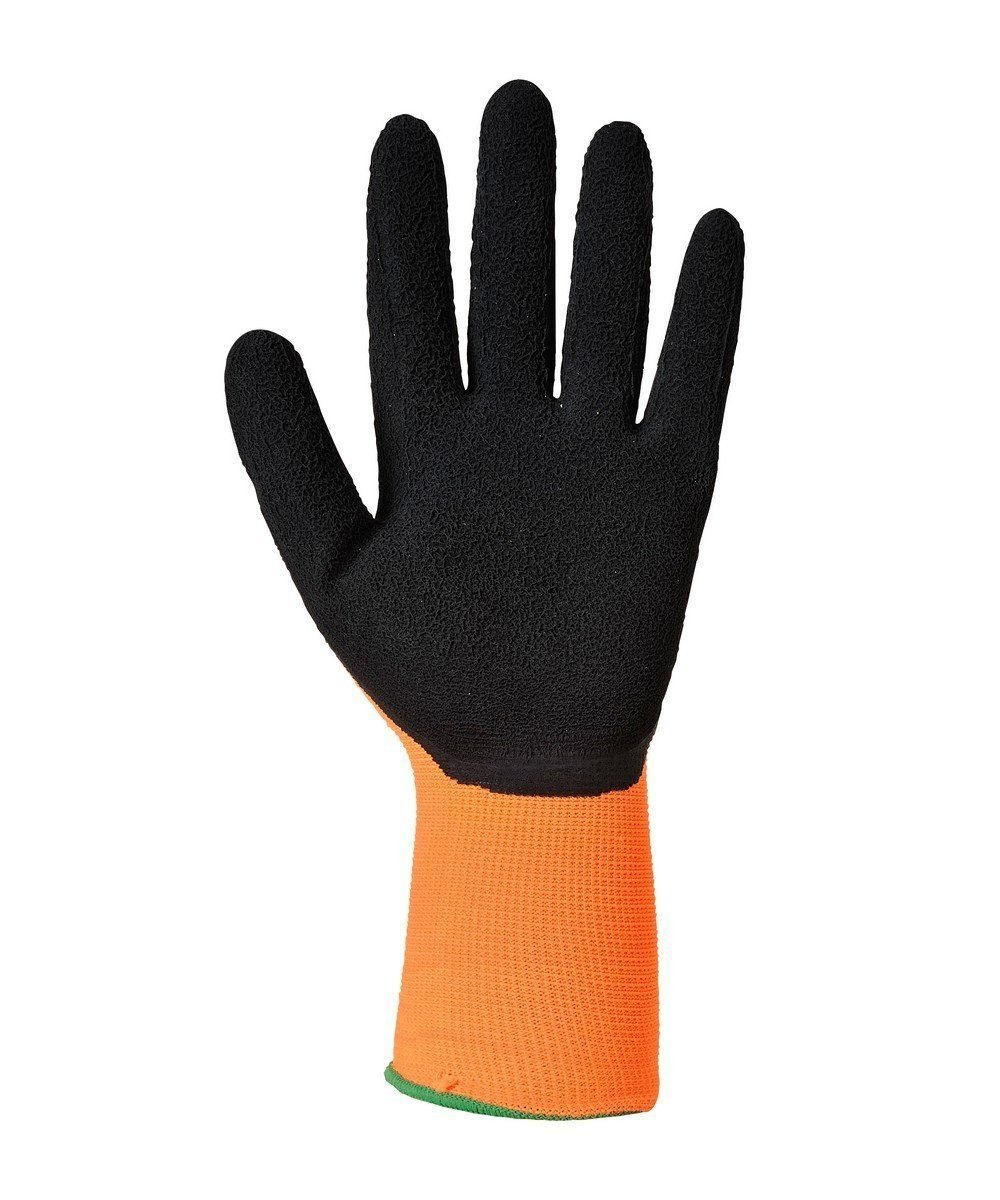 PPG Workwear Portwest Hi Vis Grip Glove A340 Orange and Black Colour Palm View