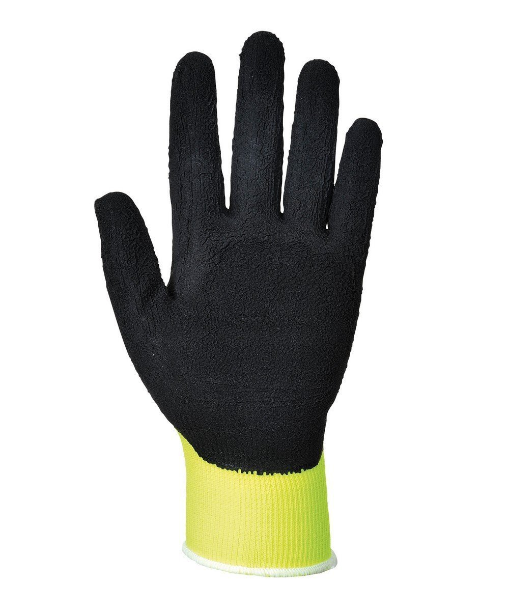 PPG Workwear Portwest Hi Vis Grip Glove A340 Yellow and Black Colour Palm View
