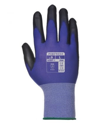 PPG Workwear Portwest Senti-Flex Glove A360 Blue and Black Colour Back View