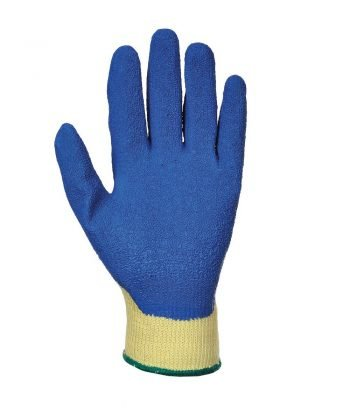PPG Workwear Portwest Cut Level 3 Latex Grip Glove A610 Blue and Yellow Palm View