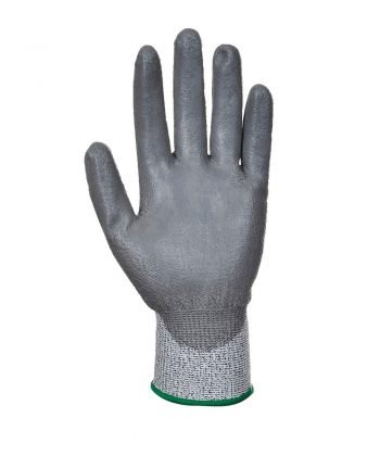 Portwest Cut Level 3 PU Palm Glove A620 Grey Colour Palm View