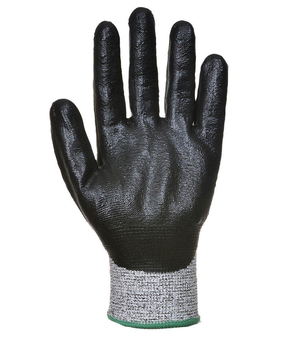 PPG Workwear Portwest Cut Level 5 3/4 Nitrile Foam Glove A621 Black Colour Palm View