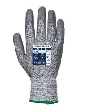 PPG Workwear Portwest Cut Level 5 Palm Glove A622 Grey Colour Back View