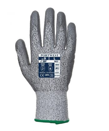PPG Workwear Portwest Cut Level 5 Palm Glove A622 Grey Colour Back View