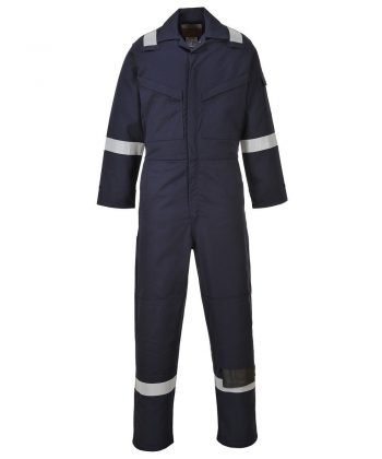 PPG Workwear Portwest Araflame Ultra Lightweight FR Anti-Static Coverall AF53 Navy Blue Colour