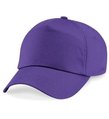 PPG Workwear Beechfield Junior Original 5 Panel Cap B10B Purple Colour Front View