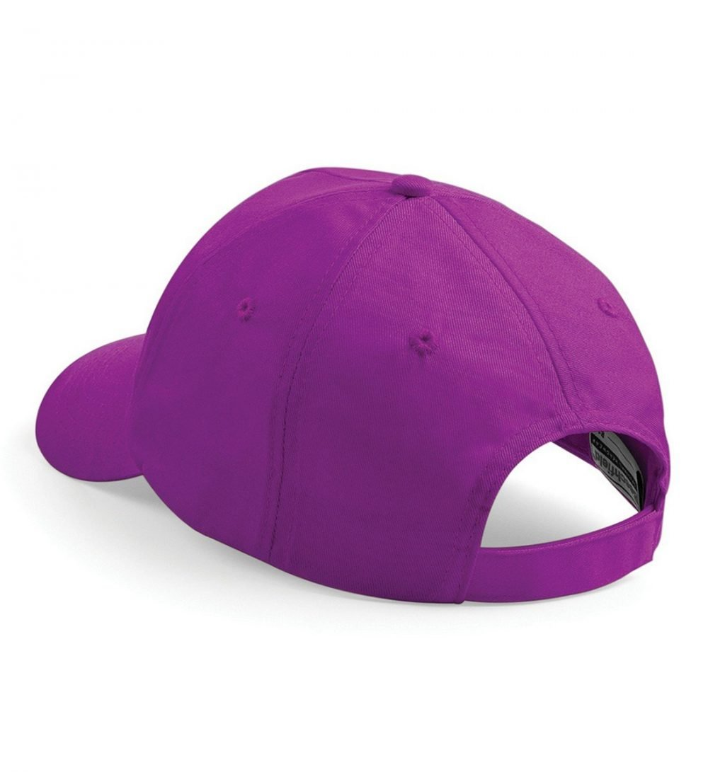 PPG Workwear Beechfield Original 5 Panel Cap B10 Magenta Colour Back View