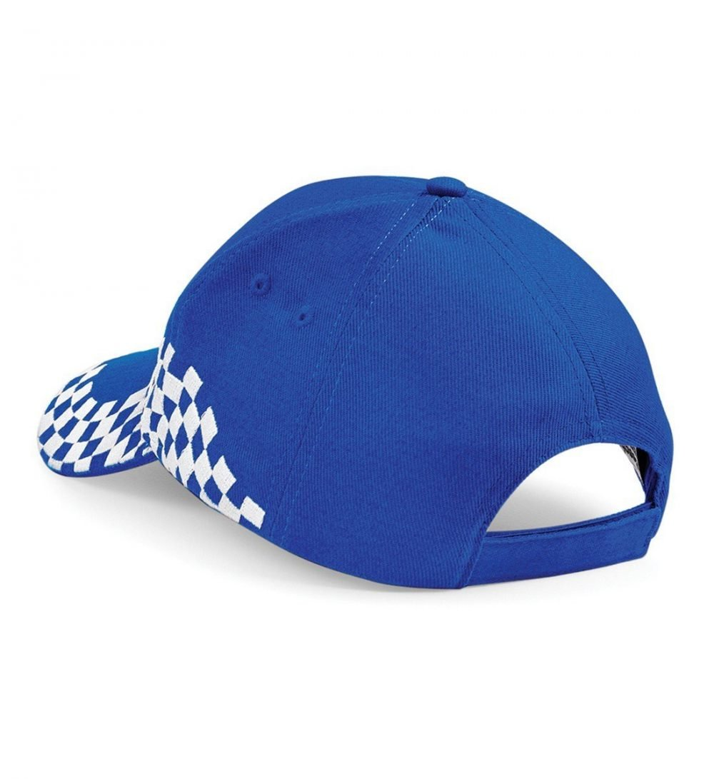 PPG Workwear Beechfield Grand Prix Cap B159 Bright Blue Colour Back View