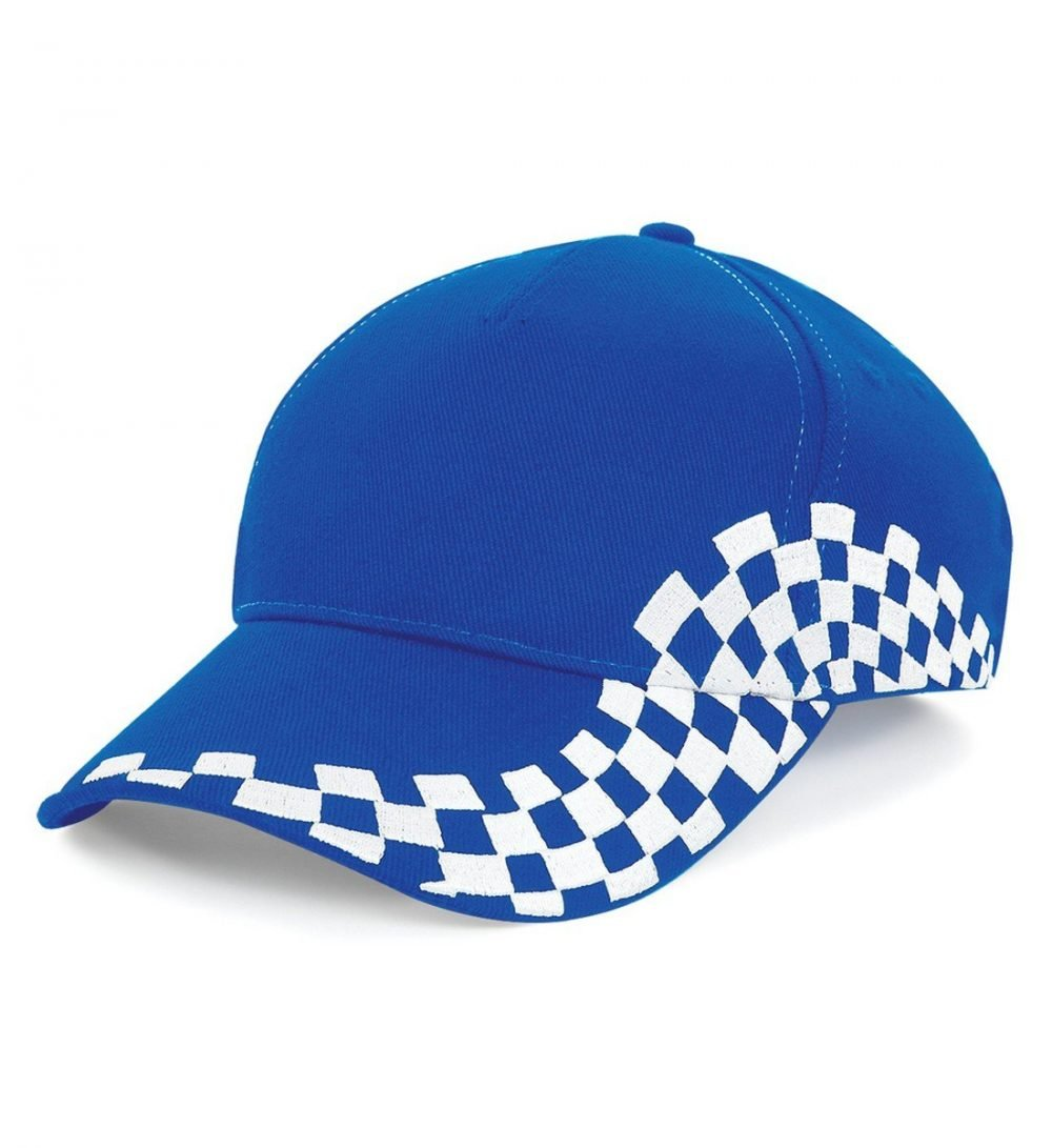 PPG Workwear Beechfield Grand Prix Cap B159 Bright Blue Colour Front View