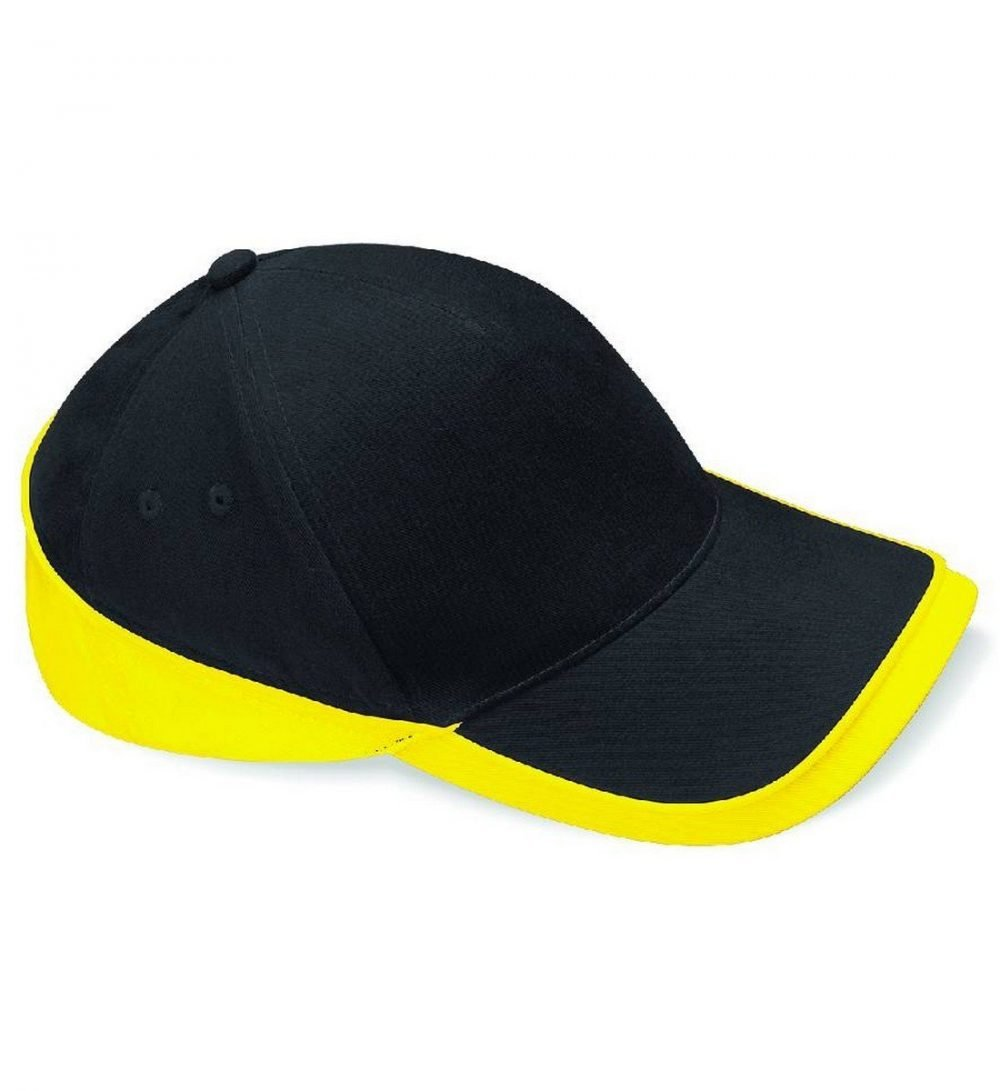 Beechfield Teamwear Competition Cap B171 Black and Yellow Colour