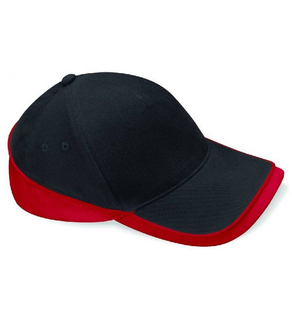 Beechfield Teamwear Competition Cap B171 Black and Red Colour