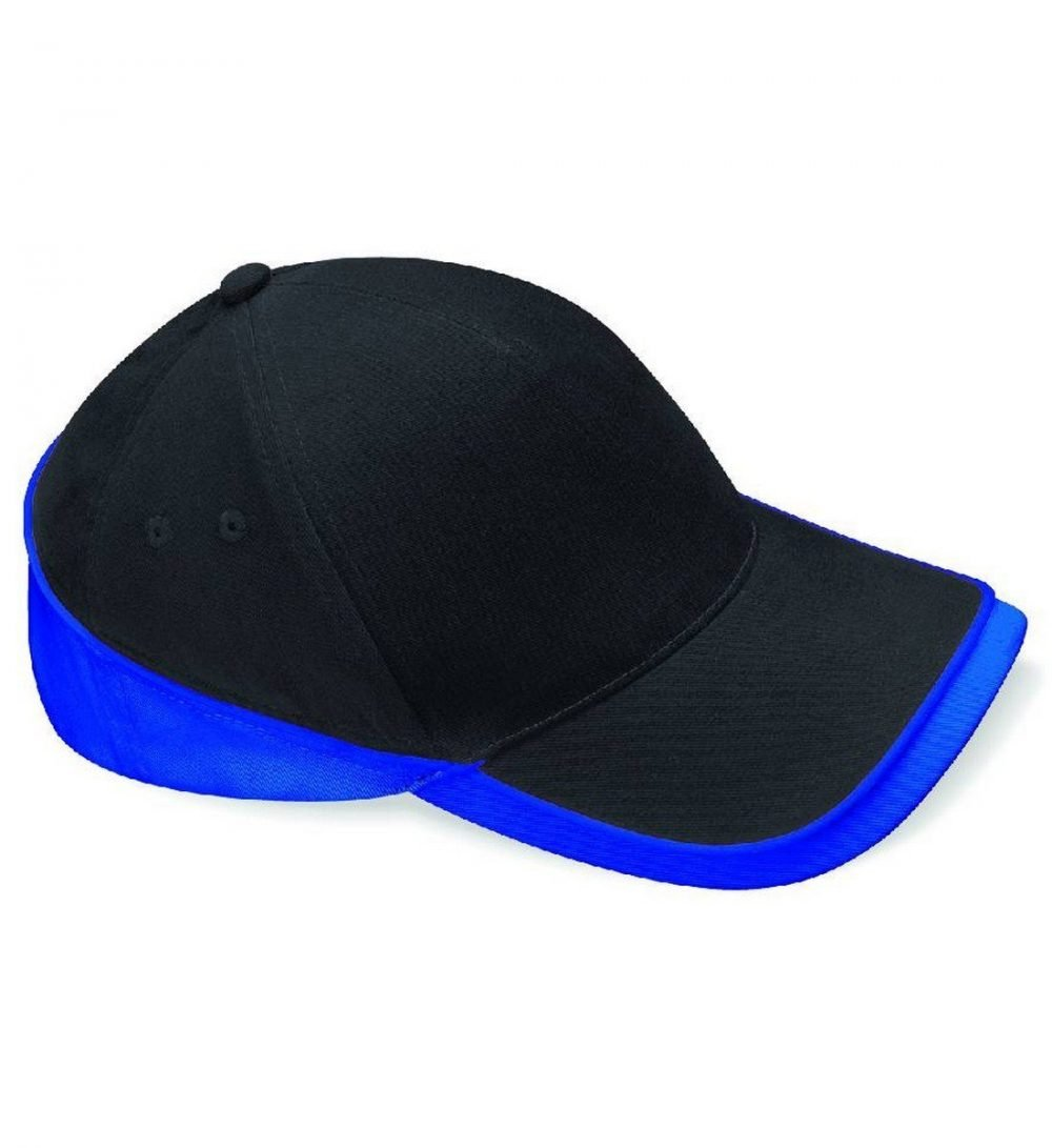 Beechfield Teamwear Competition Cap B171 Black and Bright Royal Colour