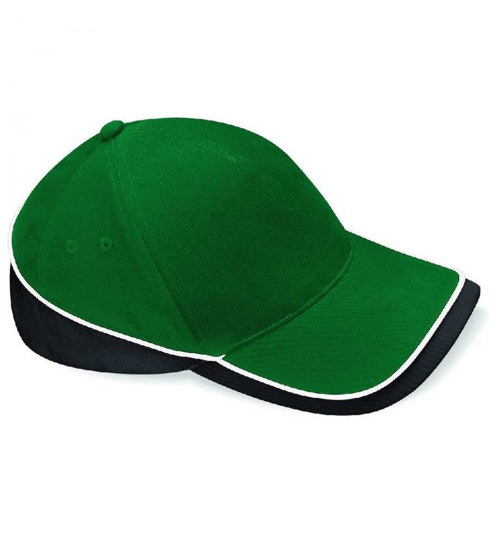 Beechfield Teamwear Competition Cap B171 Green Black and White