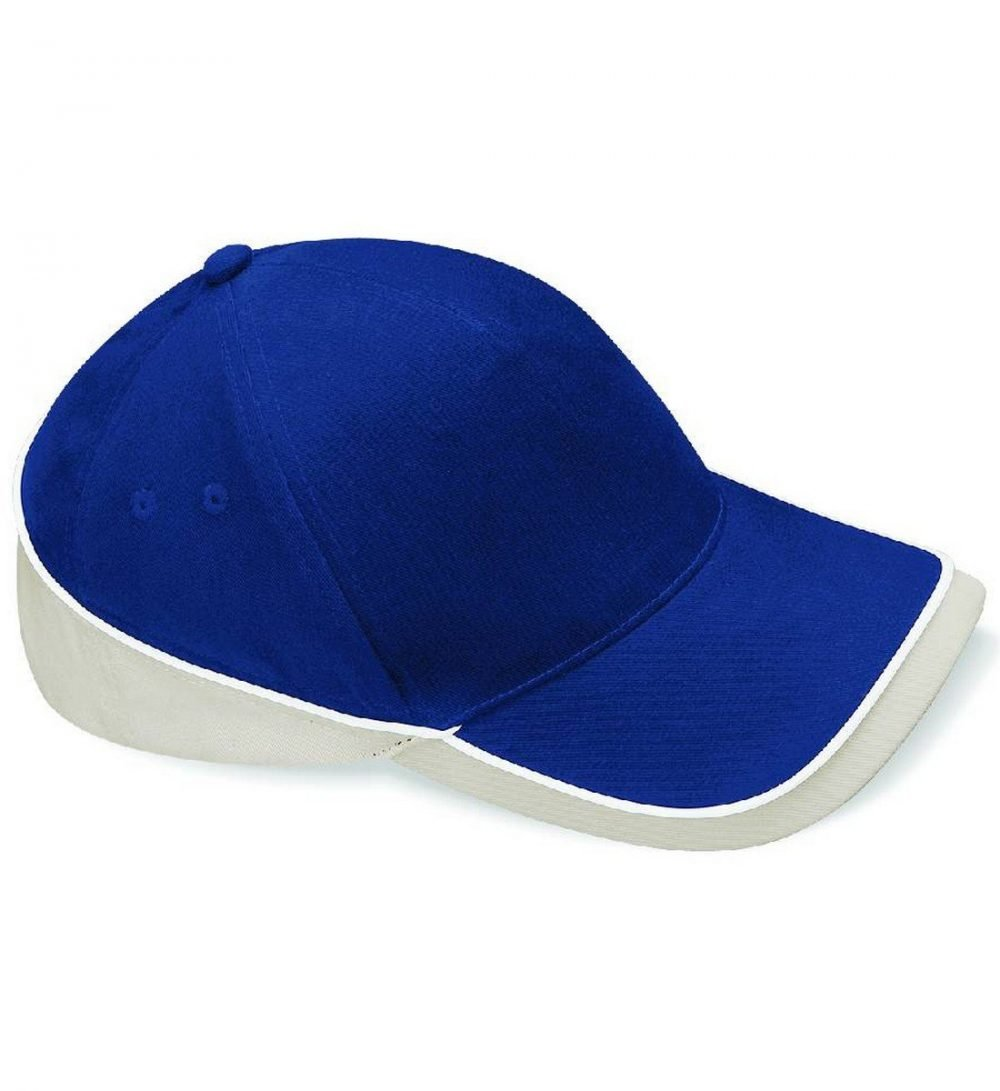 Beechfield Teamwear Competition Cap B171 Navy Puty and White Colour