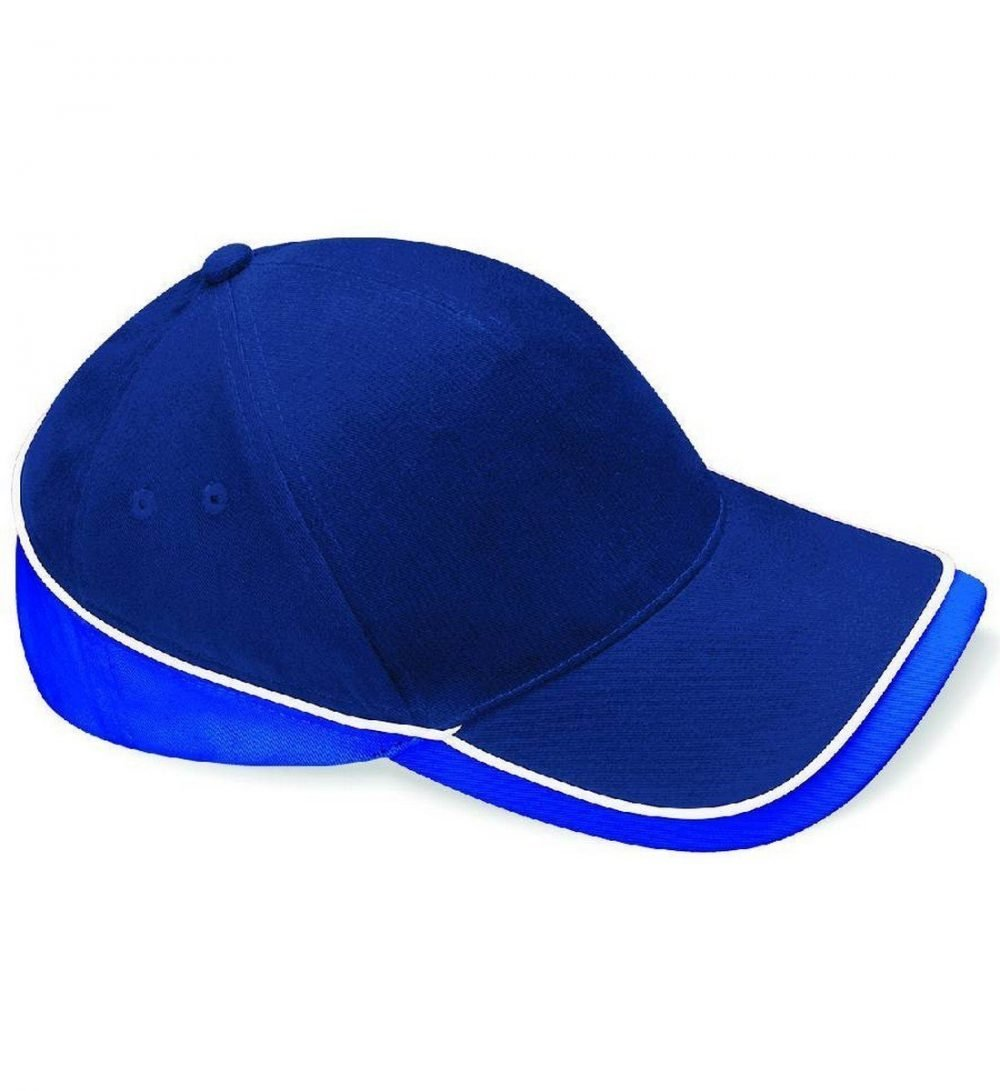 Beechfield Teamwear Competition Cap B171 Navy Royal and White Colour