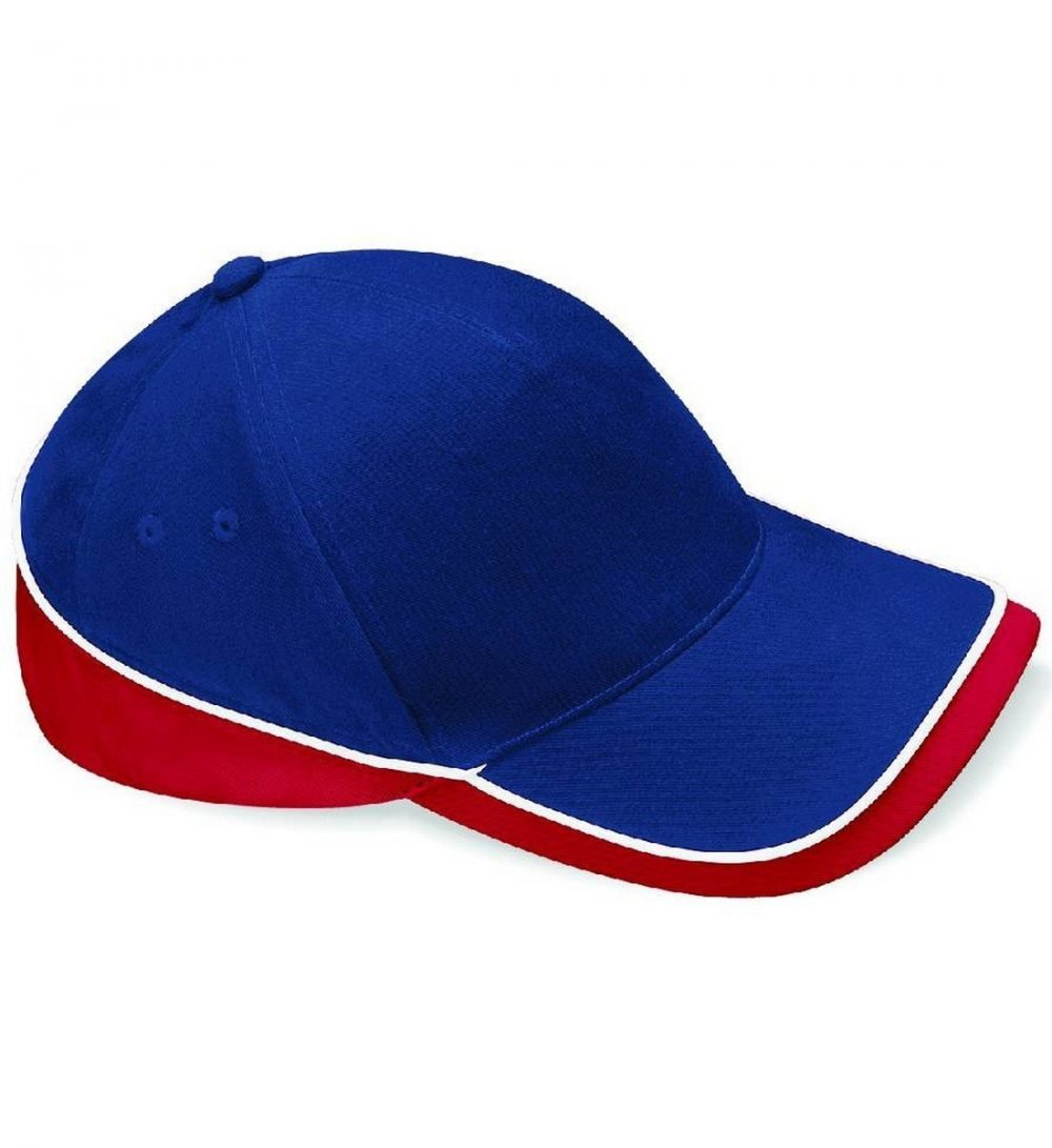 Beechfield Teamwear Competition Cap B171 Navy Red and White Colour