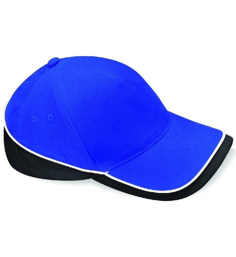 Beechfield Teamwear Competition Cap B171 Bright Royal Black and White Colour