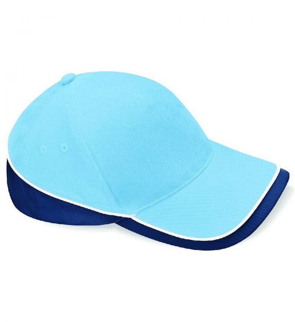 Beechfield Teamwear Competition Cap B171 Sky Navy and White Colour