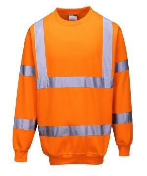 PPG Workwear Portwest Hi Vis Orange Colour Sweatshirt B303