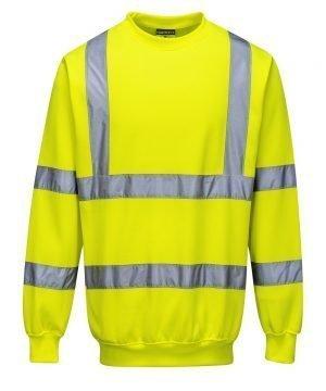 PPG Workwear Portwest Hi Vis Yellow Colour Sweatshirt B303