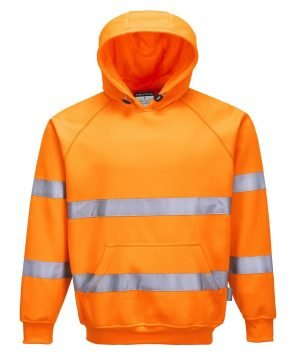 Portwest Hi Vis Orange Colour Hooded Sweatshirt B304